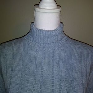 Express Turtleneck Sweater. Tuck Knit.
